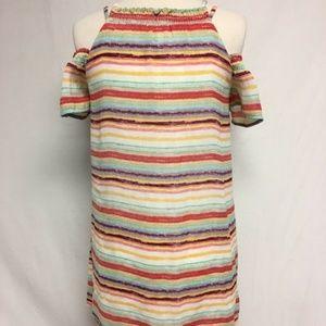 Lily Rose Cold Shoulder Striped Dress